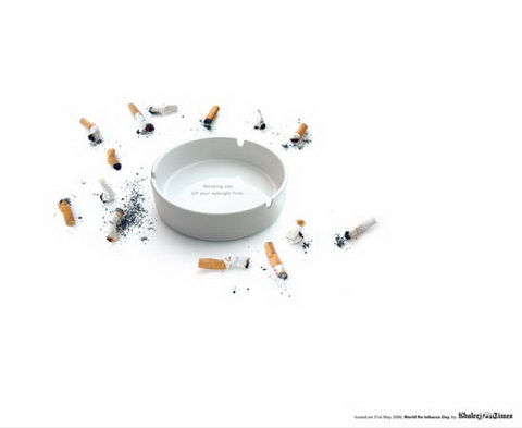 Anti-Smoking - Smoking can kill your eyesight first