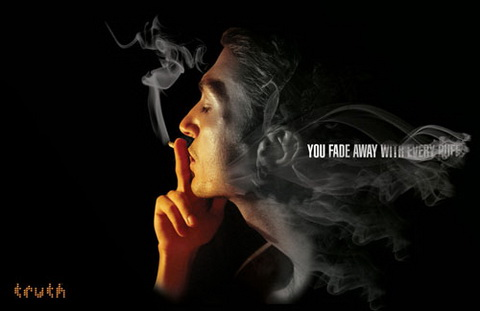 Anti-Smoking - You fade away with every puff, Stop smoking!