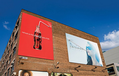 Billboard - (Coca-Cola) Straw in the wall-1