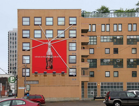 Billboard - (Coca-Cola) Straw in the wall-2