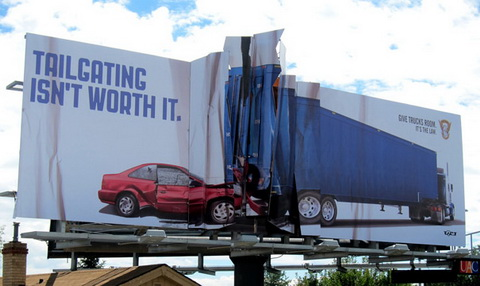 Billboard - (Colorado State Patrol) Tailgating isn't worth it!