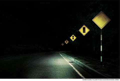 Guiness - Road signs. The more you drink, the slow you react..jpg