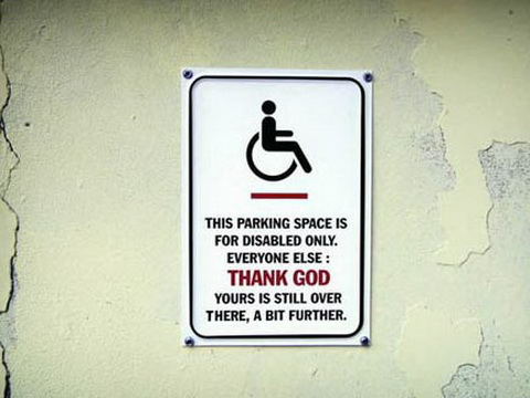Parking For Disabled.