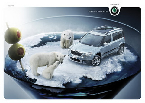 Skoda Yeti - Love it on the rocks.